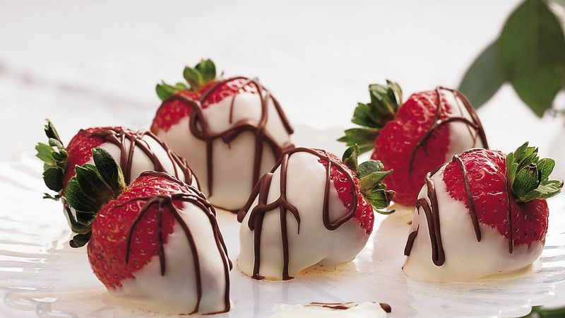 White Chocolate-Dipped Strawberries