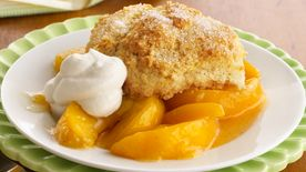 Classic Bisquick Peach Cobbler Recipe Bettycrocker Com