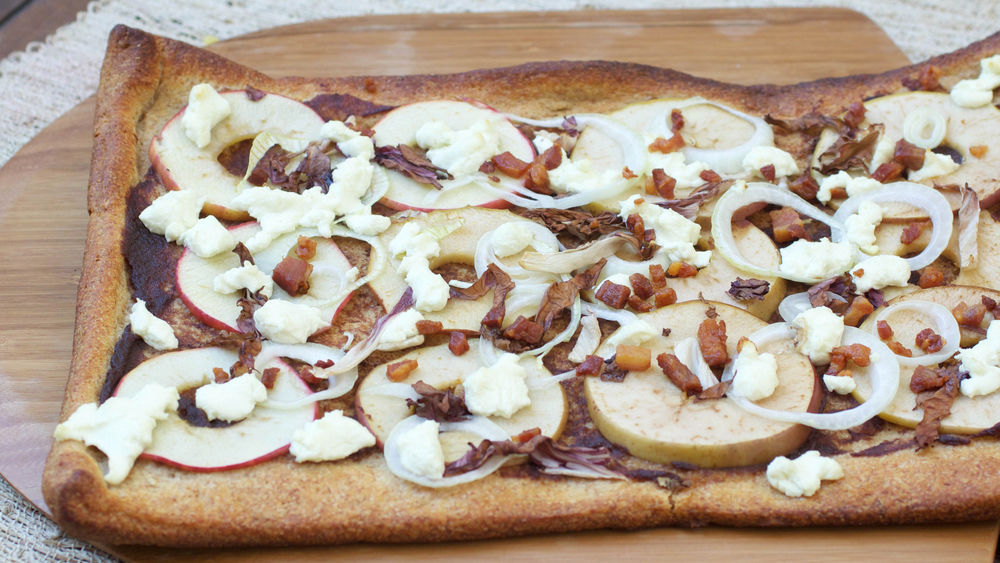 Warm Apple Radicchio Flatbread