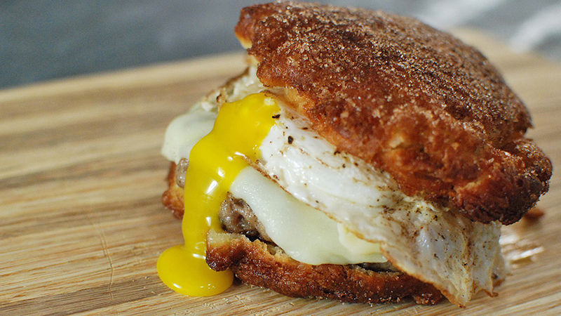 Fritter Breakfast Sandwich