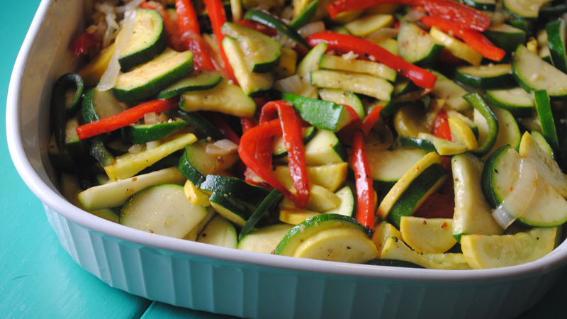 Saut 233 Ed Zucchini With Peppers Recipe Tablespoon Com