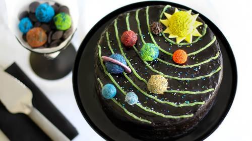 Admirable Solar System Birthday Cake Recipe Bettycrocker Com Personalised Birthday Cards Vishlily Jamesorg