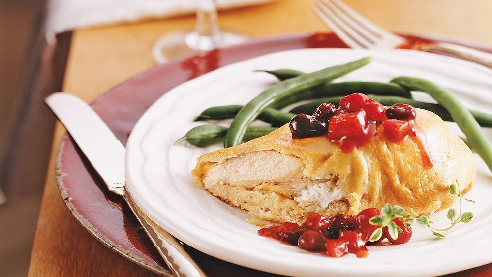 Chicken Breast Bundles with Cranberry Chutney