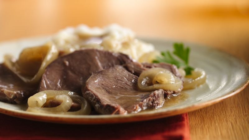 Slow Cooker Caramelized Onion Pot Roast