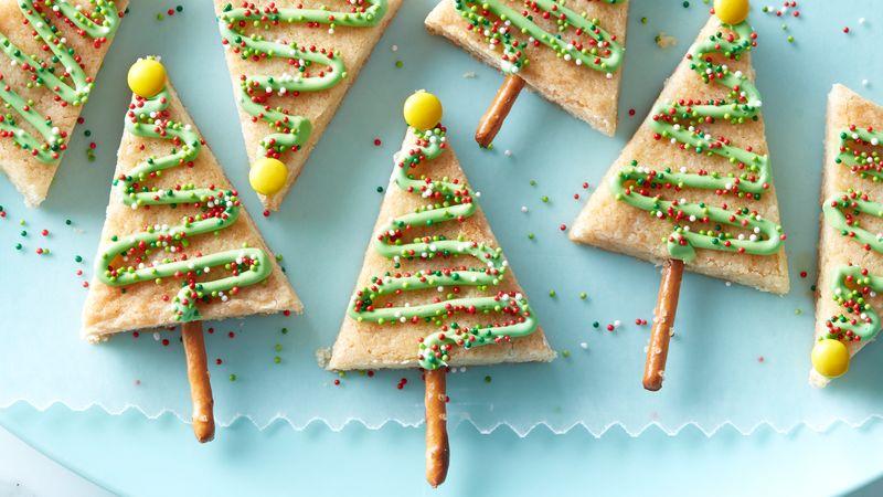 Barres de biscuits en forme d'arbre de Noël faciles à préparer
