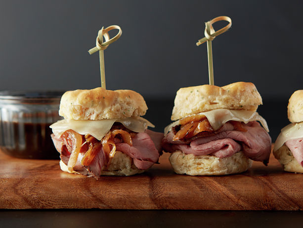 French Onion Roast Beef Sliders