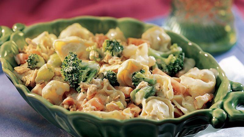 Tuna Tortellini Vegetable Salad