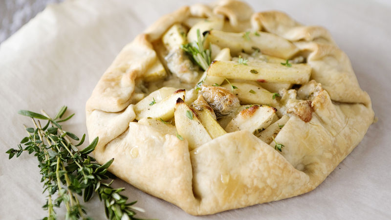 Rustic Pear and Blue Cheese Tart
