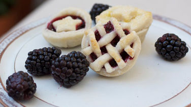 Mini Blackberry-Raspberry Pies