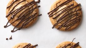 Giant Peanut Butter Zebra Cookies