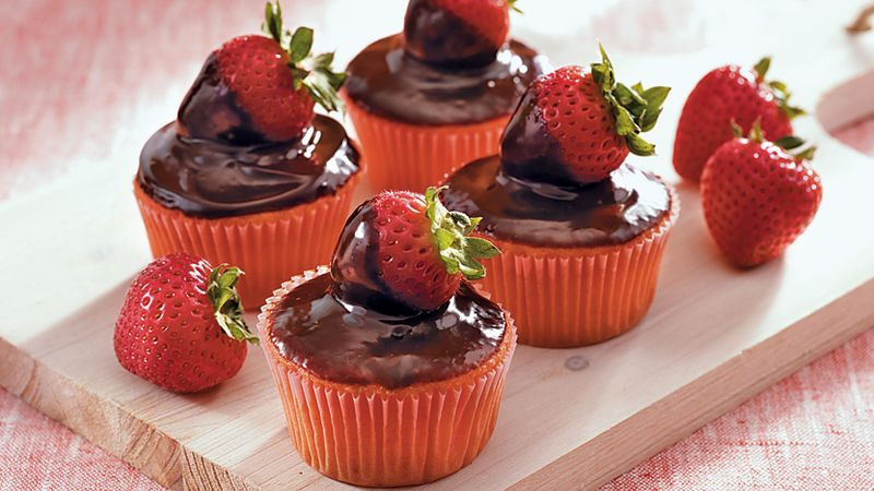 Chocolate-Covered Berry Cupcakes