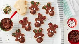 Hershey's™ Kisses™ Reindeer Sugar Cookies