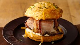Peppered Bacon-Wrapped Turkey Pub Sandwiches
