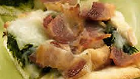 Bacon Spinach Pizza
