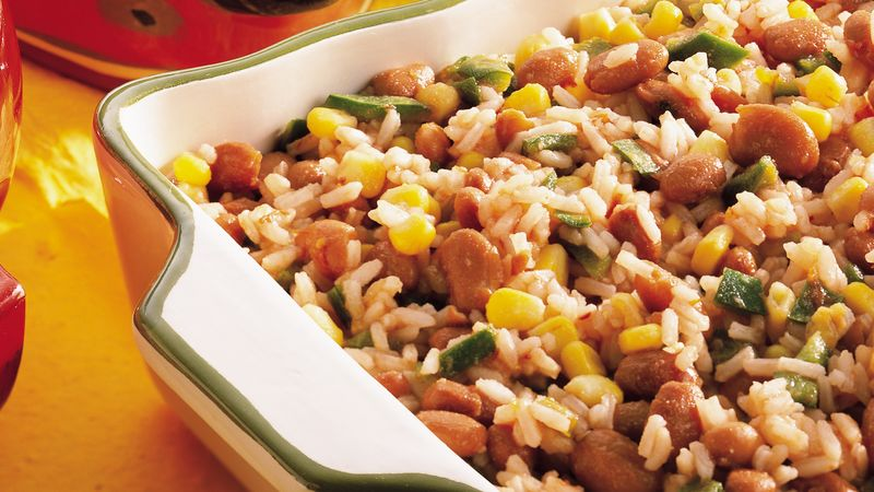 Fiesta Mexican Rice And Pinto Beans Recipe Pillsbury Com