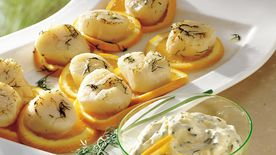 Grilled Scallops with Orange-Chive Mayonnaise