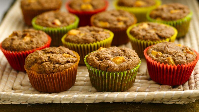 Oat-Peach Muffins
