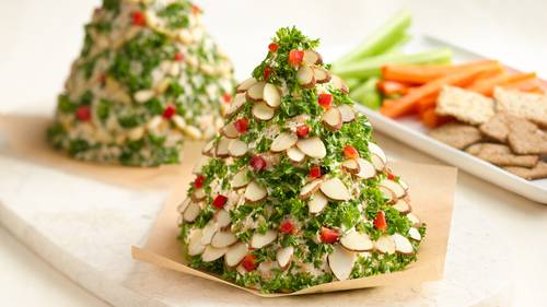 Holiday Tree-Shaped Cheese Ball Recipe - BettyCrocker.com