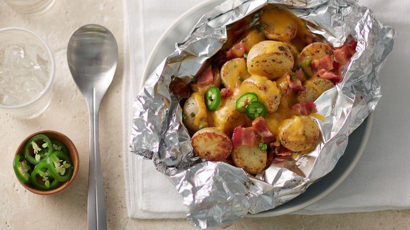 Cheesy Bacon Ranch Potato Foil Packs