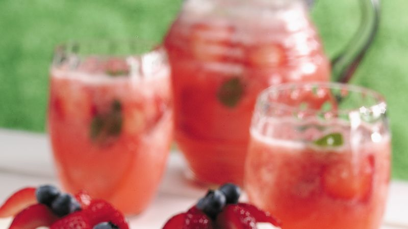 Strawberry-Mint Cooler
