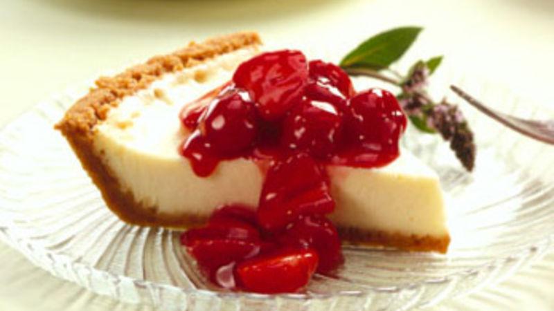 vanilla cheesecake with cherry berry topping recipe bettycrocker com