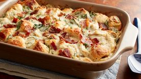 Chicken Bacon Caesar Bubble-Up Bake
