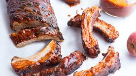 Grilled Chipotle Peach BBQ Ribs