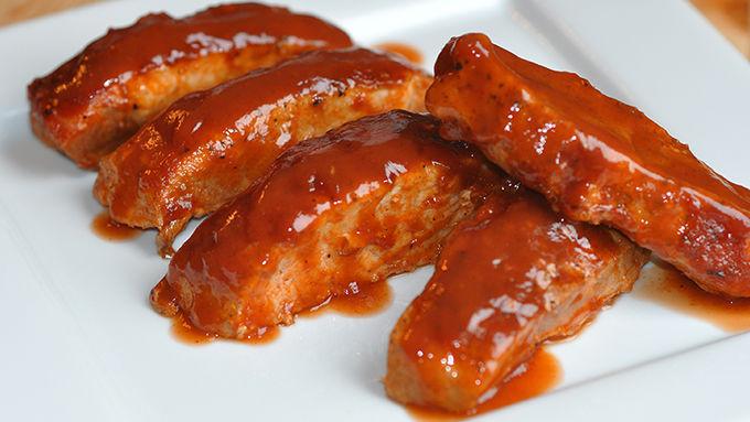 Barbecue boneless pork ribs in oven for Bbq boneless short ribs