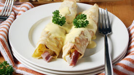 Chicken Cordon Bleu Crepes