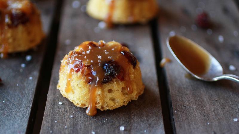 Pineapple Upside-Down Salted Caramel Mini Bundt Cakes