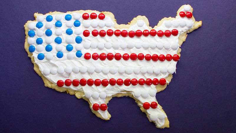 Flag Sugar Cookie Pizza