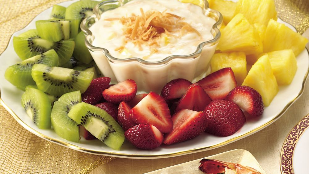Fruit with Piña Colada Dip