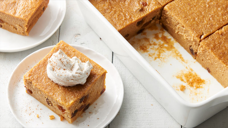 Pumpkin Bread Pudding with Ginger Cream