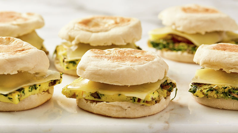 Make-Ahead Quiche and Sausage  Breakfast Sandwich