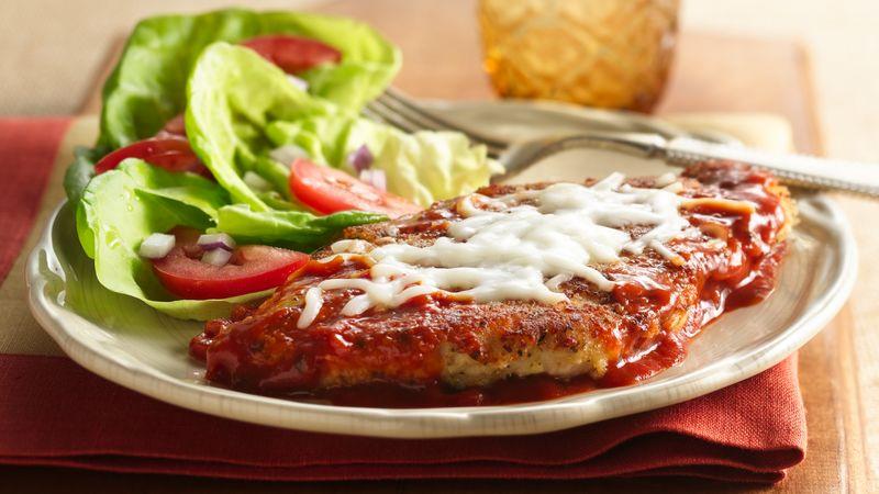 Hearty Tomato Skillet Chicken Parmigiana Recipe Bettycrocker