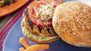 Turkey Burgers with Avocado Mayonnaise
