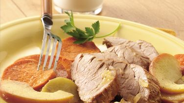 Roast Pork with Apples and Sweet Potatoes