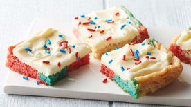 Red, White & Blue Cream Cheese Cookie Bars