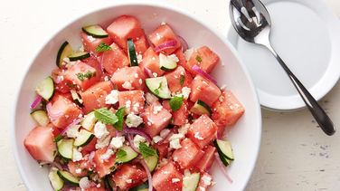 Watermelon Cucumber Feta Salad