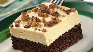 Irish Cream-Topped Brownie Dessert