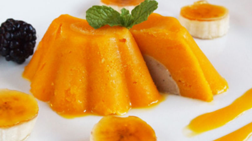 Mango and Banana Mousse Domes