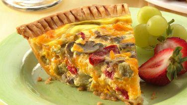 Vegetable-Cheddar Quiche