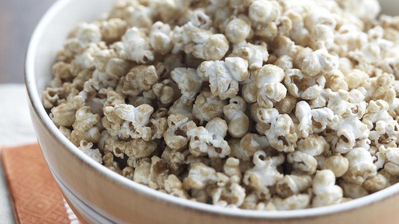 Skinny Crispy Vanilla-Caramel Popcorn