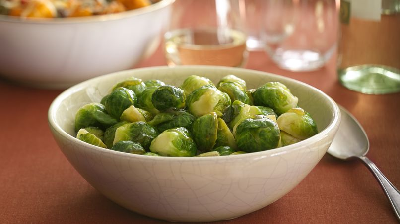 Wine Glazed Brussels Sprouts