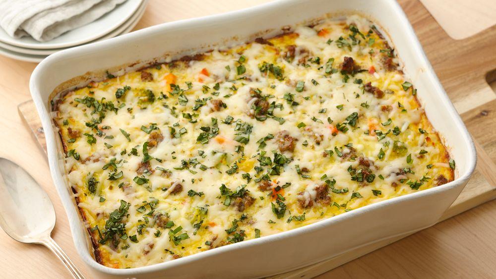 Overnight Sausage-Egg Bake Recipe - Pillsbury.com