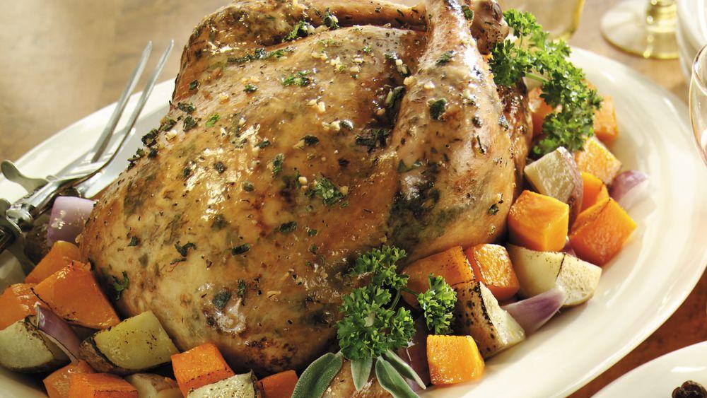 Sage and Garlic Roasted Chicken