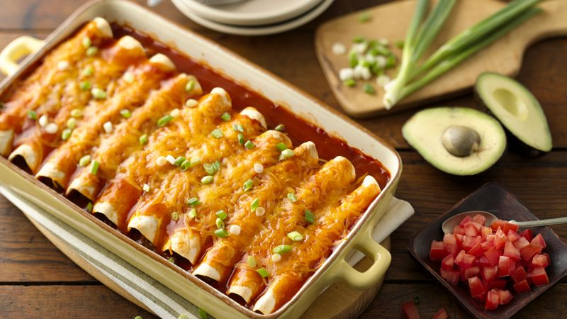 Easy Beef Enchiladas Recipe Bettycrocker Com