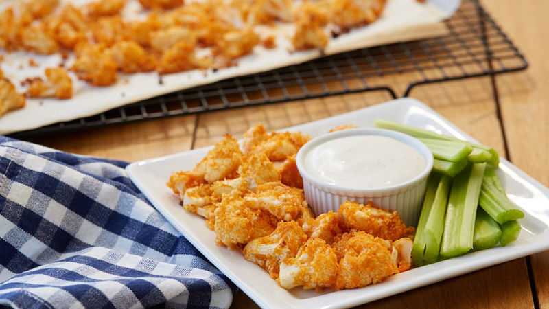 Easy Buffalo Cauliflower Bites