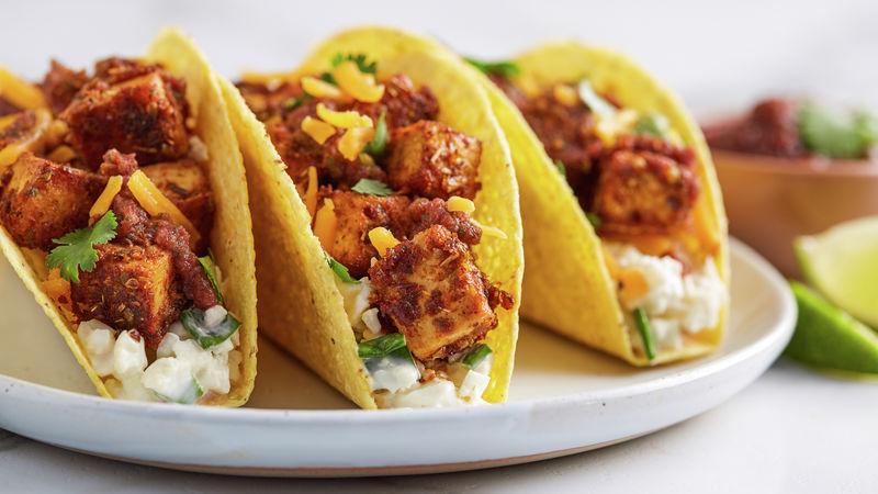 Blackened Tofu Tacos Recipe Tablespoon Com