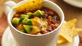Slow-Cooker Cheesy Beef and Bean Soup